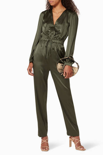hover state of Zyana Charmeuse Jumpsuit
