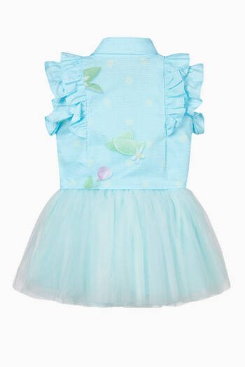 hover state of Jurk Ruffle Top and Tulle Skirt
