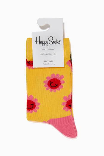 hover state of Smile Flower Socks