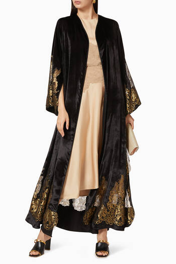 hover state of Velvet Lace Abaya