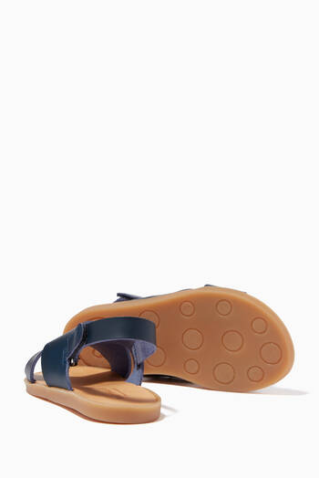 hover state of Flat Strap Sandals in Leather