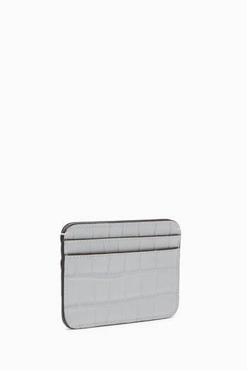 hover state of Chloé C Cardholder in Crocodile-Embossed Calfskin