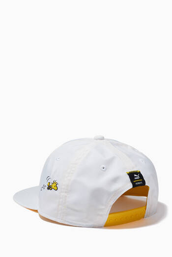 hover state of Peanuts Flat Brim Youth Cap