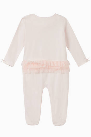 hover state of Embroidered Rose Cotton Coverall
