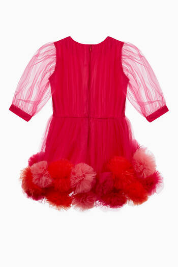 hover state of Pom Pom Tulle Dress