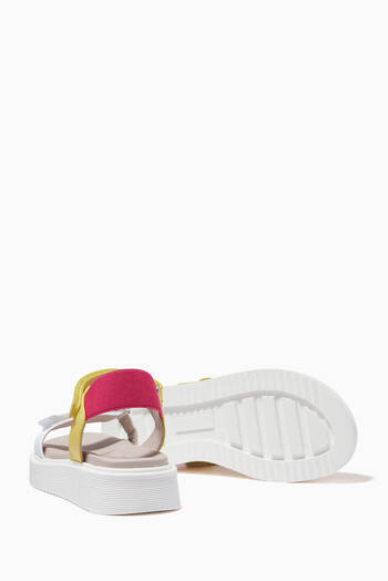 hover state of Tricolour Logo Print Sandals