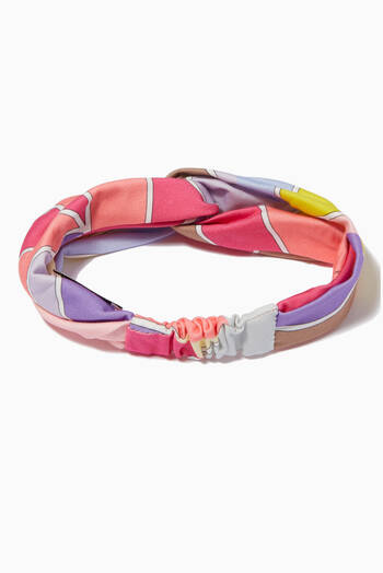 hover state of St. Quirimbas Print Headband in Stretch Cotton
