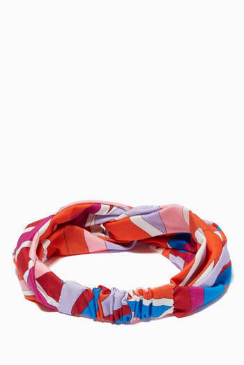 hover state of Sal Print Headband in Cotton Jersey