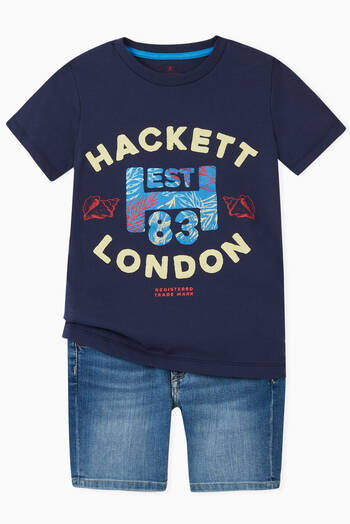 hover state of Hackett Lodon Graphic Jersey T-Shirt