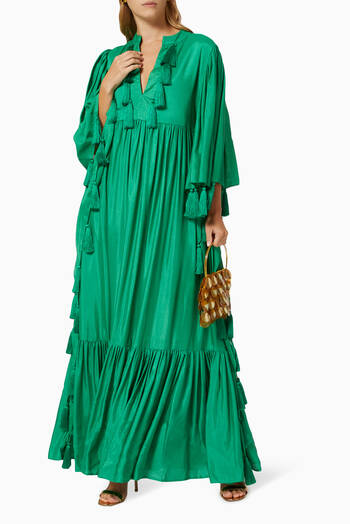 hover state of Tasselled Kaftan Gown