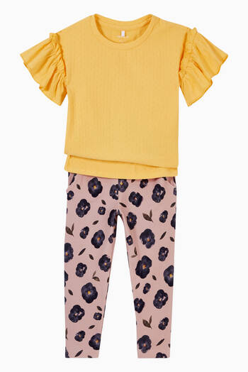 hover state of Floral Print Sweatpants in Stretch Organic Cotton