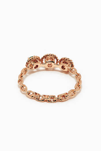 hover state of Salasil Trio Diamond Ring with Ruby in 18kt Rose Gold