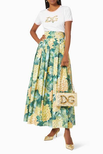hover state of Leggings with Floral-print in Jersey