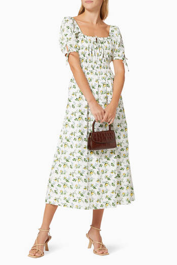 hover state of Flora Midi Dress in Cotton