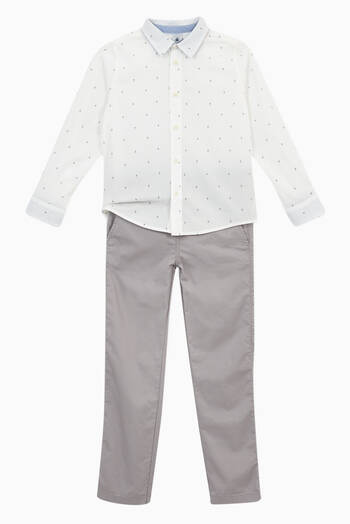 hover state of Buttoned Trousers in Cotton