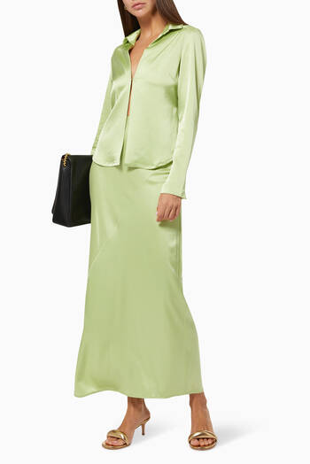 hover state of Sateen Fluid Skirt