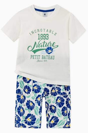 hover state of Printed Bermuda Shorts in Cotton