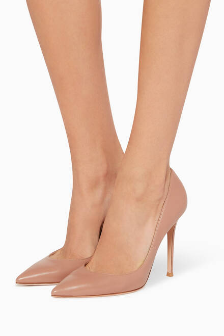 hover state of Gianvito 105 Nappa Leather Pumps