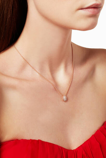 hover state of Rose-Gold Serpent Bohème Pendant Necklace