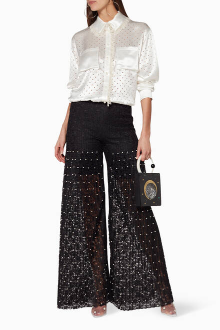 hover state of Black Mariella Pearl Trousers