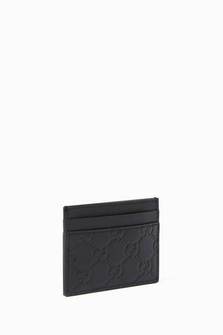 hover state of Black GG Signature Card Holder
