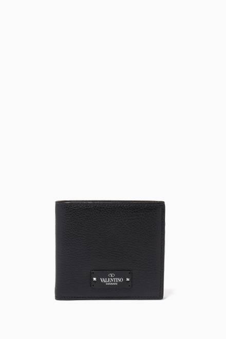 7e7630403c Shop Giorgio Armani Black Vertical Wallet for Men | Ounass