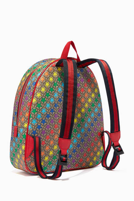 hover state of Rainbow Star Print Backpack