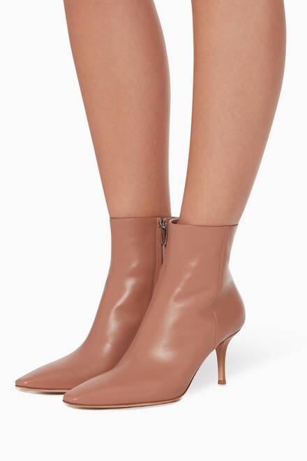 hover state of Square Toe Leather Booties