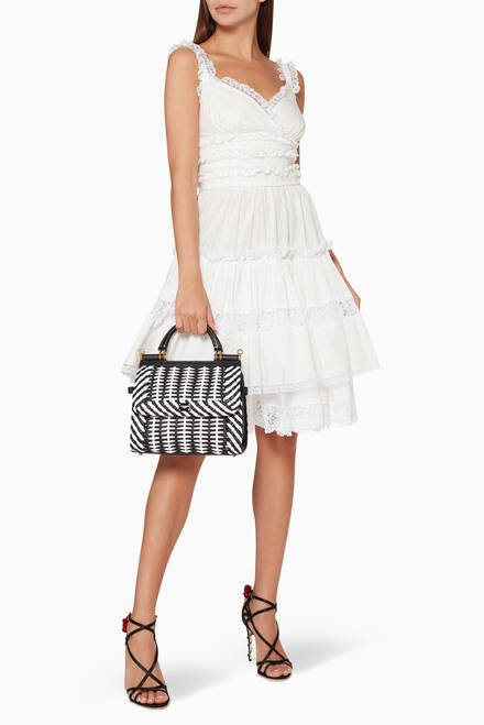 hover state of Sicily 58 Small Woven Nappa Bag