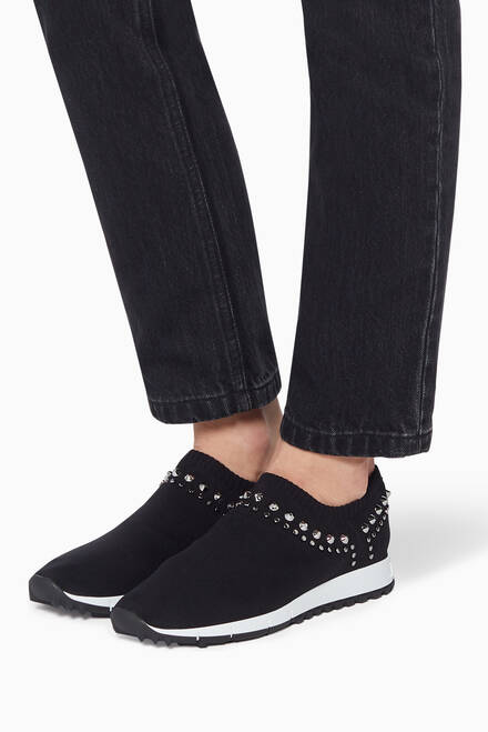 hover state of Verona Stud Embellished Knit Sneakers