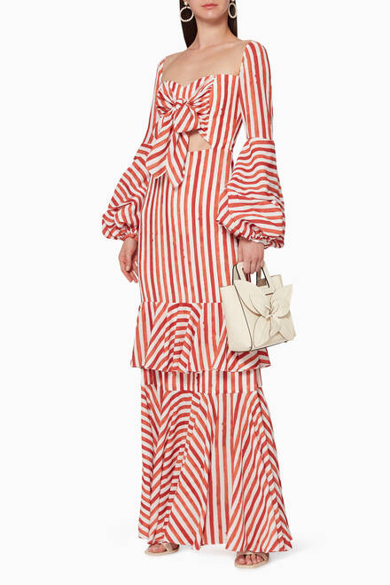 hover state of Nudos Striped Cotton Dress