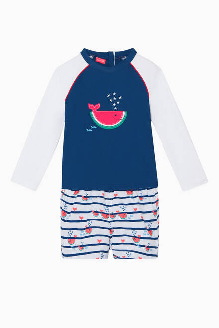 hover state of Watermelon Whale Rash Vest
