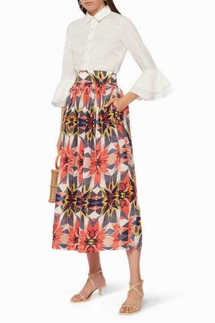 hover state of New Jane Diamond Maxi Skirt