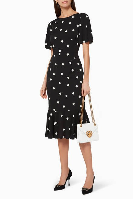 hover state of Polka Dot Silk Dress