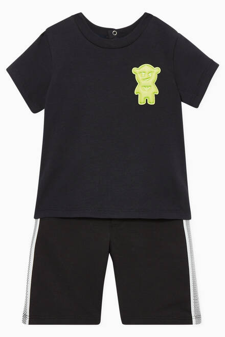 hover state of Manga Bear Appliqué T-Shirt