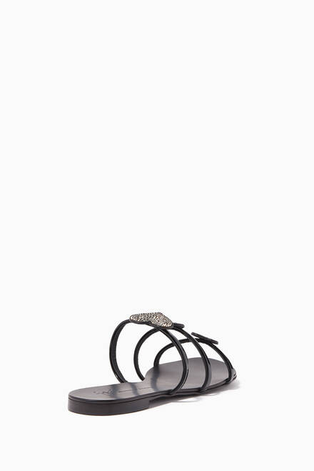hover state of Anya Love Patent Leather Sandals