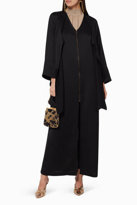 hover state of Jacket Abaya with Zipper