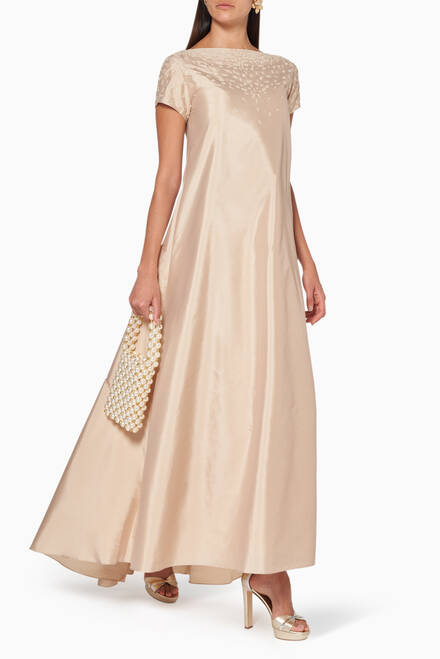 hover state of Embroidered Maxi Dress