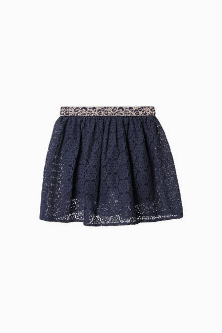 hover state of Knee-Length Lace Skirt