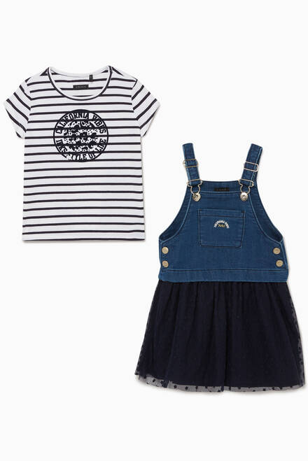 hover state of 2-in-1 Sailor T-Shirt & Denim Dress