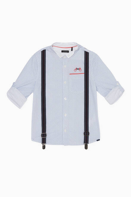 hover state of Printed Shirt & Suspenders Set