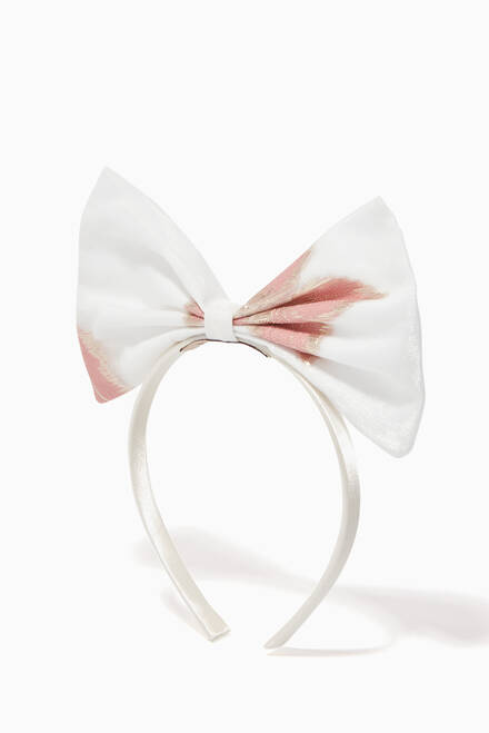hover state of Giant Bow Metallic Jacquard Headband