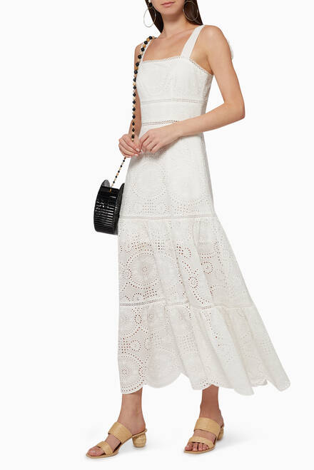 hover state of Nicole Broderie Anglaise Cotton Dress