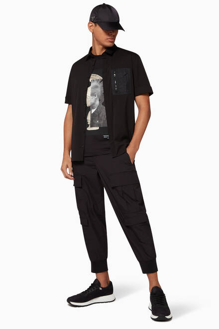 hover state of Cargo Parachute Slouch Trousers