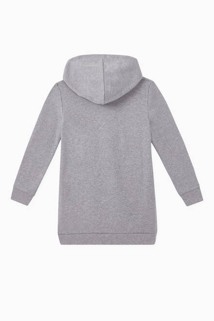 hover state of Logo Hooded Sweatshirt Dress