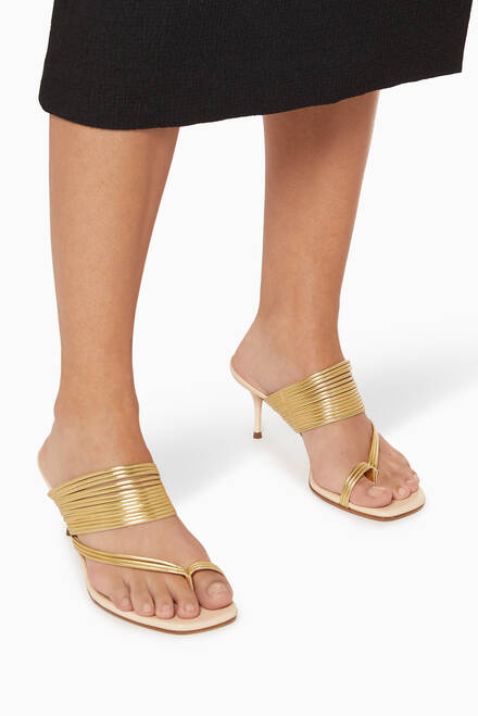 hover state of Sunny 60 Mule Sandals in Leather