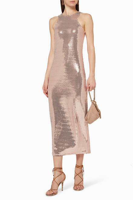 hover state of Disco Sequin Midi Dress