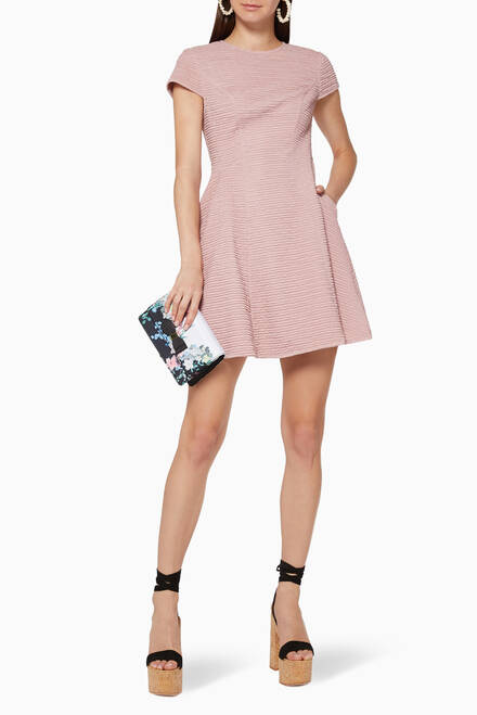 hover state of Cherisa Textured Skater Dress