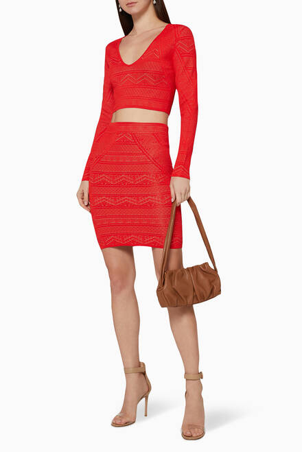 hover state of Alexa Sweater Pencil Skirt