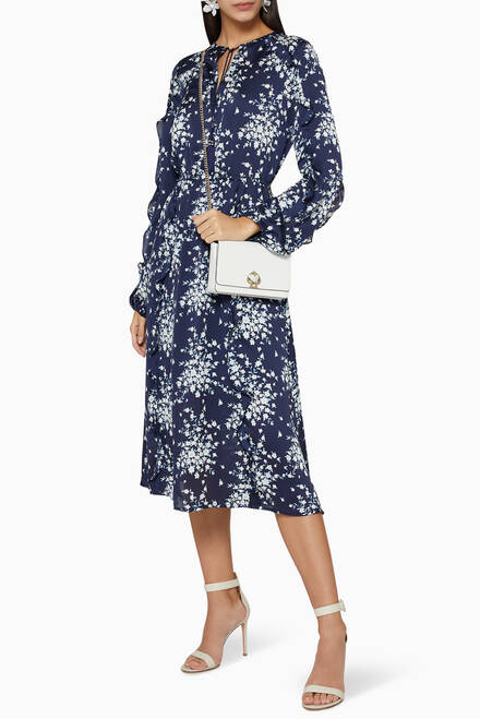 hover state of Floral Print Blouson Dress